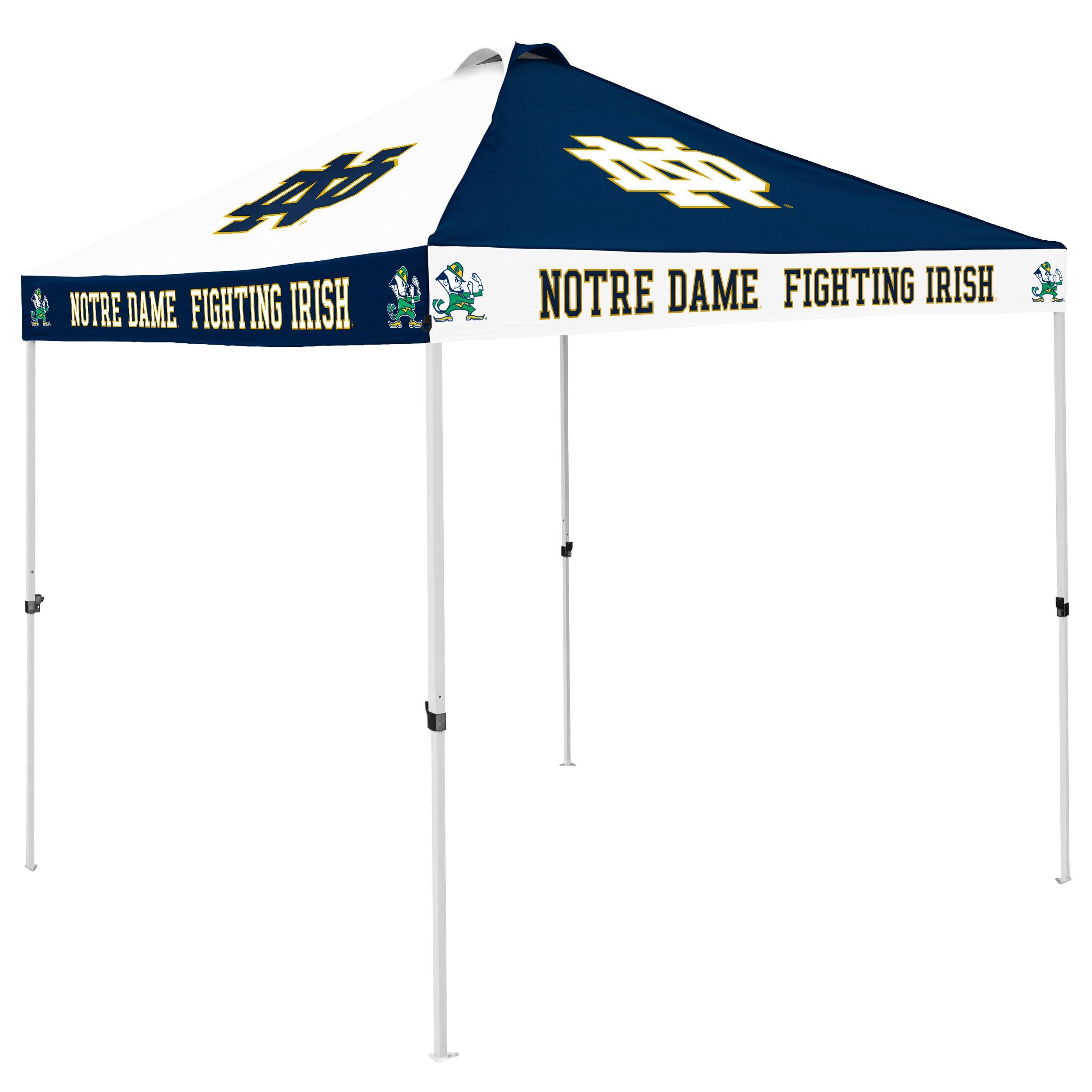 Logo Brands NCAA Notre Dame Fighting Irish CB Canopy, Navy/White