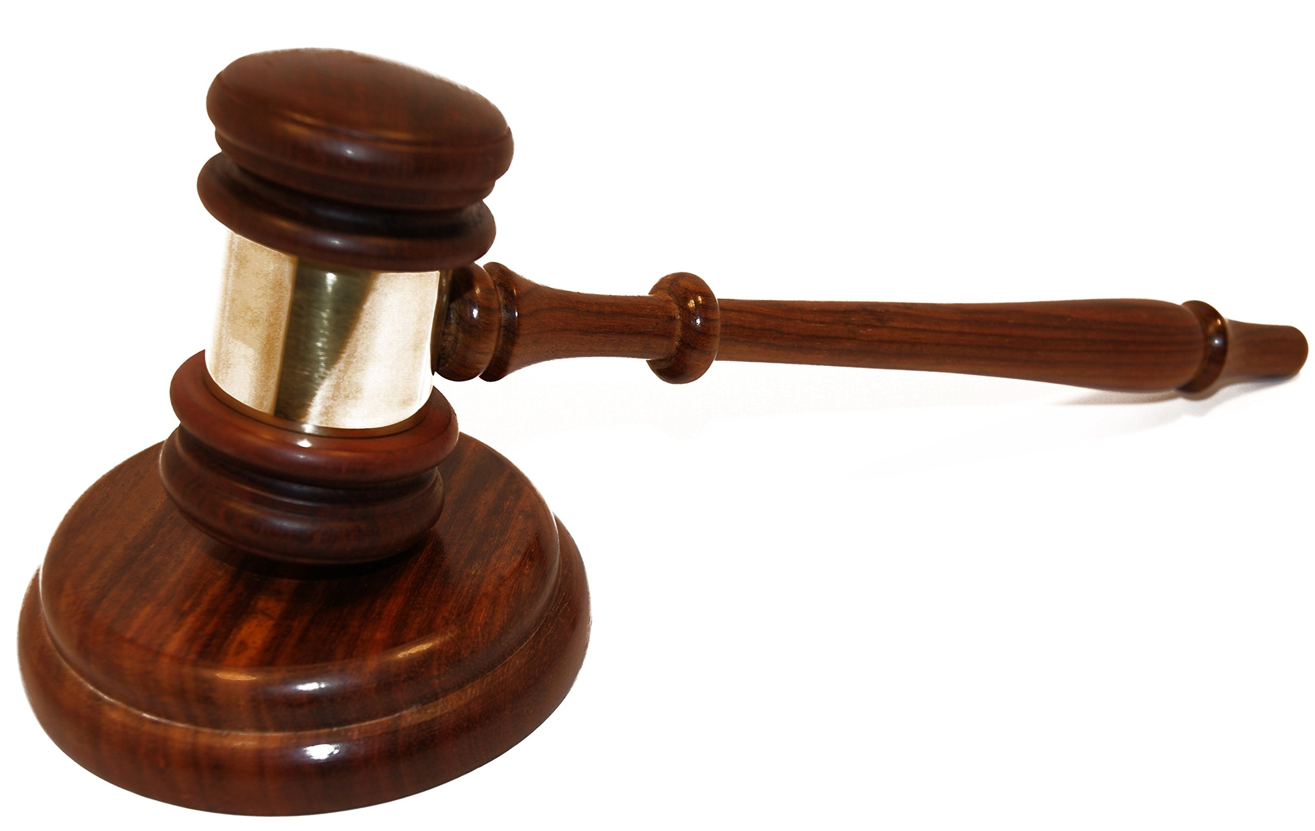 Judge's Gavel with Striking Block
