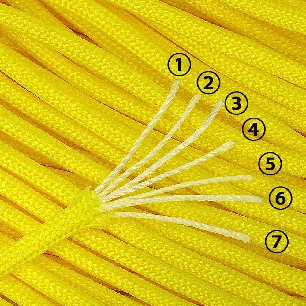 XIAONAN Paracord 550 Outdoor Seil 100ft//31m 7 Kernf/äden 4mm Dick Parachute Cord Kn/üpfen von Hundeleine aus Rei/ßfestem 100/% Polyester Fallschirms Schnur mit 4 Klickverschluss f/ür Armband