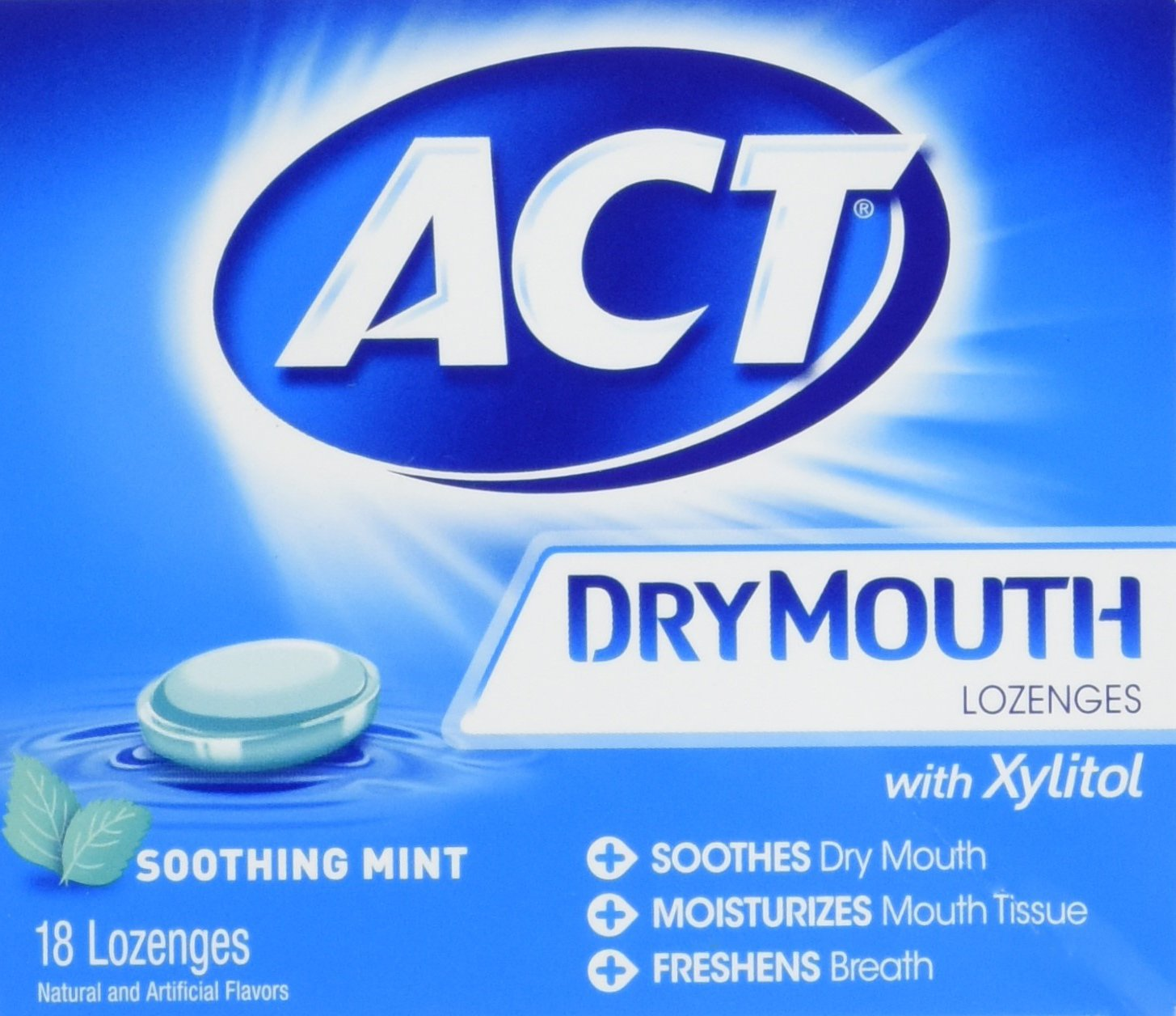 ACT Total Care, Dry Mouth Lozenges, 18 Count (Pack of 6), Soothing Mint Flavored Lozenges with Xylitol Help Moisturize Mouth Tissue to Sooth and Relieve Discomfort from Dry Mouth, Freshens Breath by ACT (Image #5)