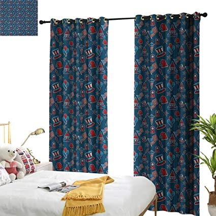 Xiaoxinxin 4th Of July Light Luxury High End Curtains Icons