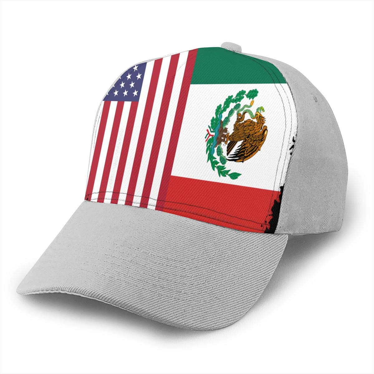 Y94OIW@MAO Mexican American Flag Trucker Hat for Men and Women Cotton Sports Cap
