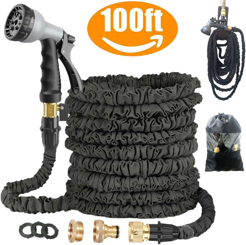 Avyvi Expandable Garden Hose With Multi Spray Watering Gun/Storage Bag/Hose Hanger, Fashion Brass Fittings (100FT)WAS £32.16 NOW £16.08 w/code 25L2CQ88 @ Amazon
