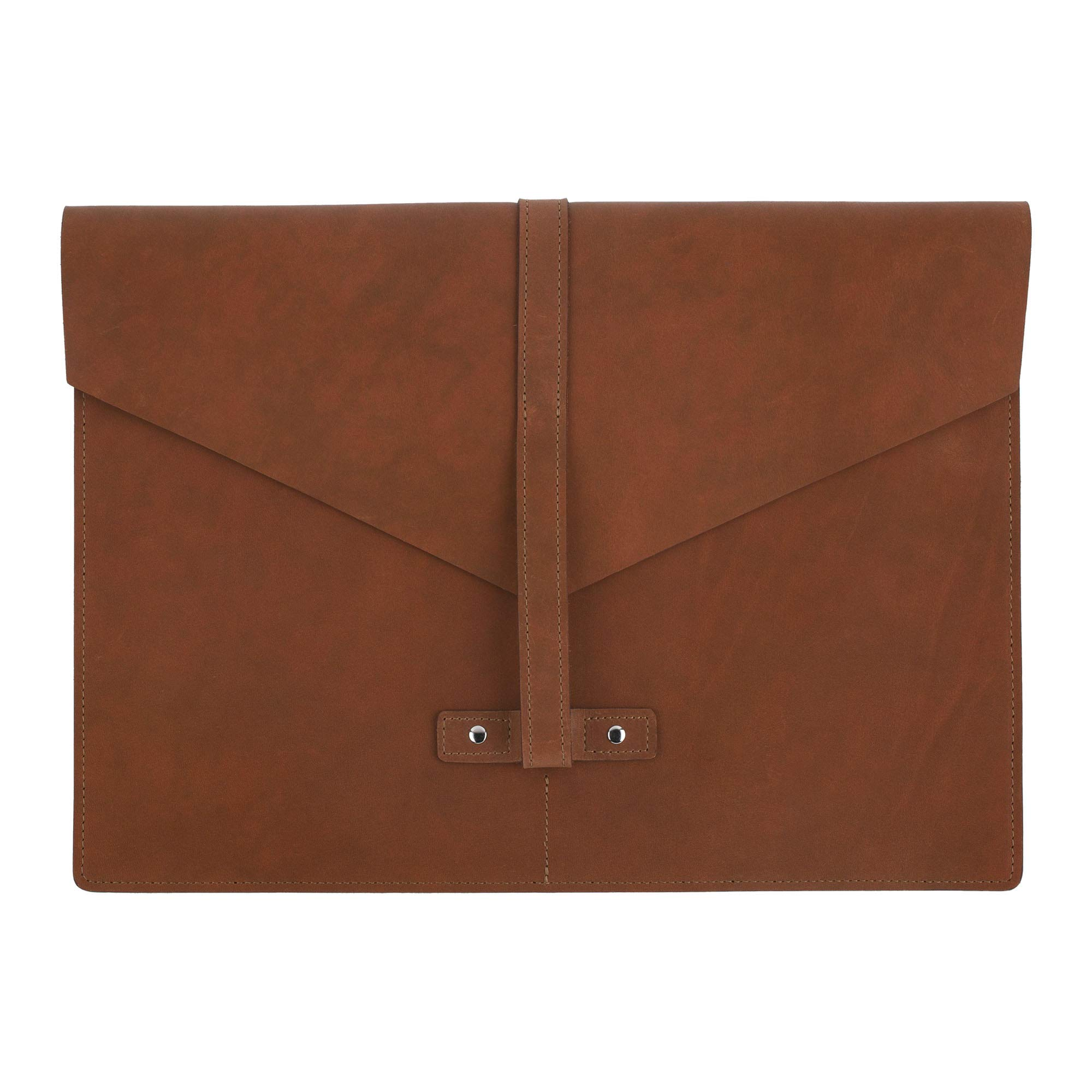 SLATE COLLECTION Belltown Small Laptop Sleeve, Full-Grain Leather (Cognac, fits 13'' Laptop) by SLATE COLLECTION (Image #3)