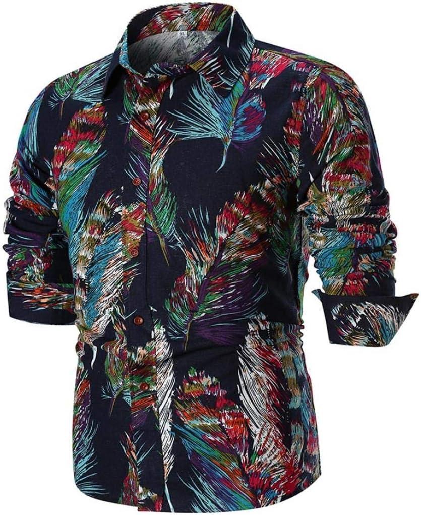 HhGold Camisas para Hombre Top de Manga Larga Slim Fit Casual Rockabilly Floral Patrón Personalizado Botón Algodón Polo Coloreado Blusa XXL XXL XXXXL (Color : Negro, tamaño : XXX-Large): Amazon.es: Hogar