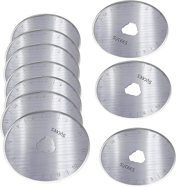 10 St 28mm Ersatzklingen für Rollschneider Rollmesser Stahl Aufbewahrungsbox