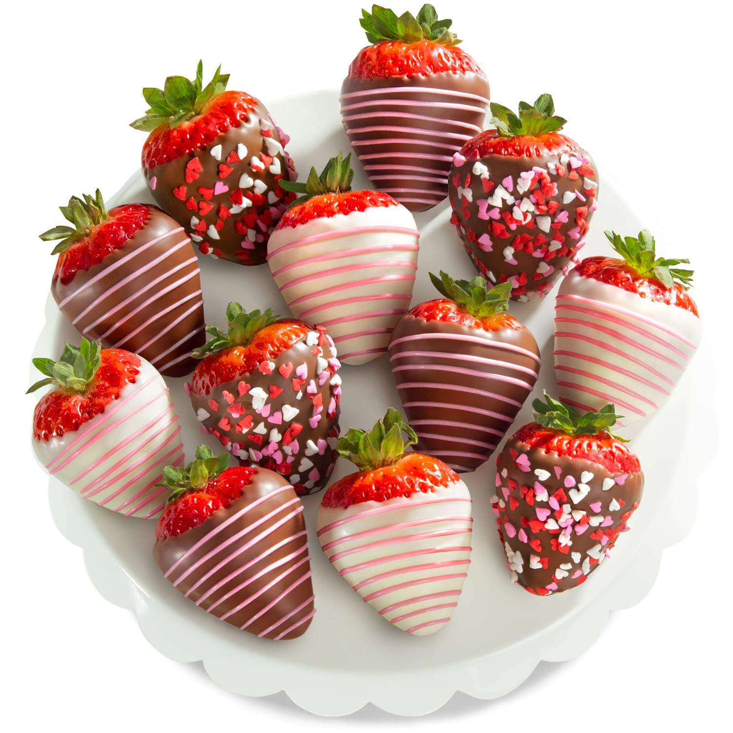Amazon Com Golden State Fruit 12 Love Berries Chocolate Covered Strawberries Gourmet Fruit Gifts Grocery Gourmet Food