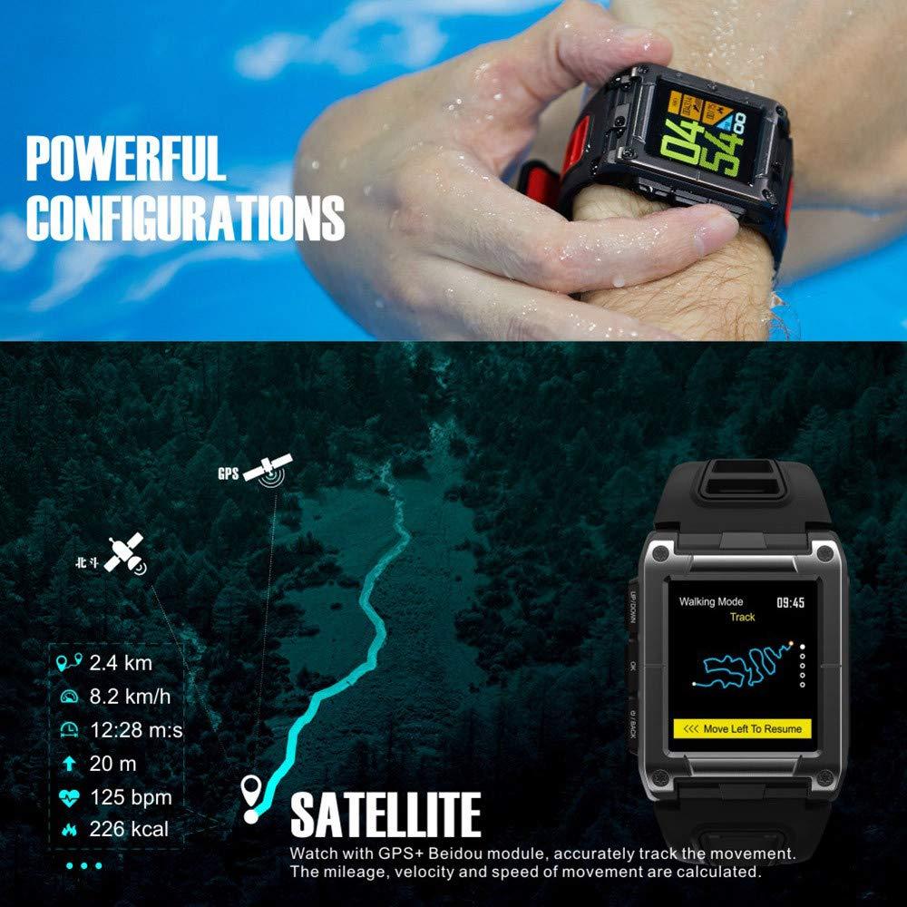 Lovewe Professional IP68 Waterproof Swimming Smart Watch Fitness Tracker Bluetooth GPS Wristband Colorful UI (Gray) by Lovewe_Smart Watch (Image #8)