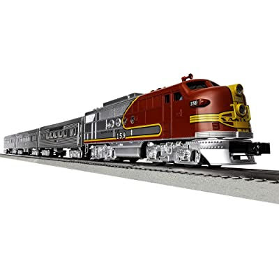 Lionel Santa Fe Super Chief Electric O Gauge Model Train Set w/ Remote and Bluetooth Capability: Toys & Games