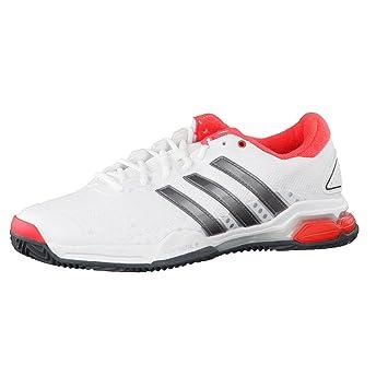 Adidas Barricade Team 4 Clay Zapatillas de Tenis para Hombre Blanco/Gris/Rojo Talla:12.0 UK - 47.1/3 EU: Amazon.es: Deportes y aire libre
