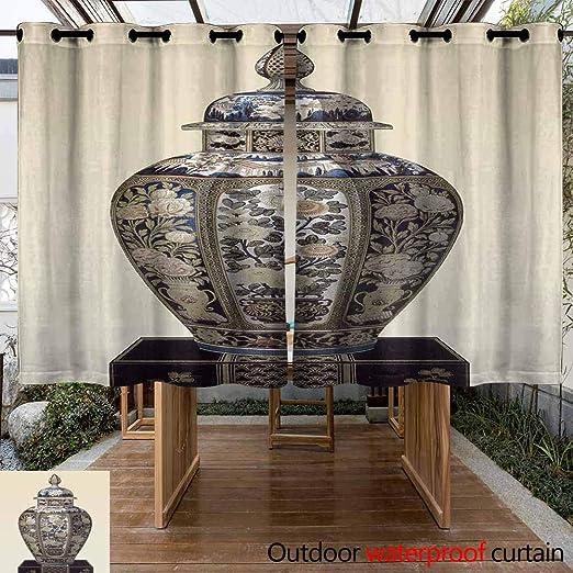VIVIDX Cortina de Patio para Exteriores, Resistente, a Prueba de Agua y Viento, Cortinas Opacas para el Patio, Sombra Exterior para Porche, Granja, pergola, Cabana, 2 Paneles: Amazon.es: Jardín