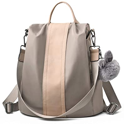 Amazon.com  Charmore Women Backpack Purse Waterproof Nylon Schoolbags  Anti-theft Rucksack Shoulder Bags  Shoes 441884f9dc6cc