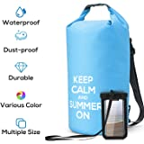 Numyton Waterproof Dry Bag with Backpack Straps, Floating Roll Top Dry Sack with Waterproof Phone Pouch for Kayaking,Surfing, Boating, Canoeing, Fishing, Rafting, Swimming, Camping