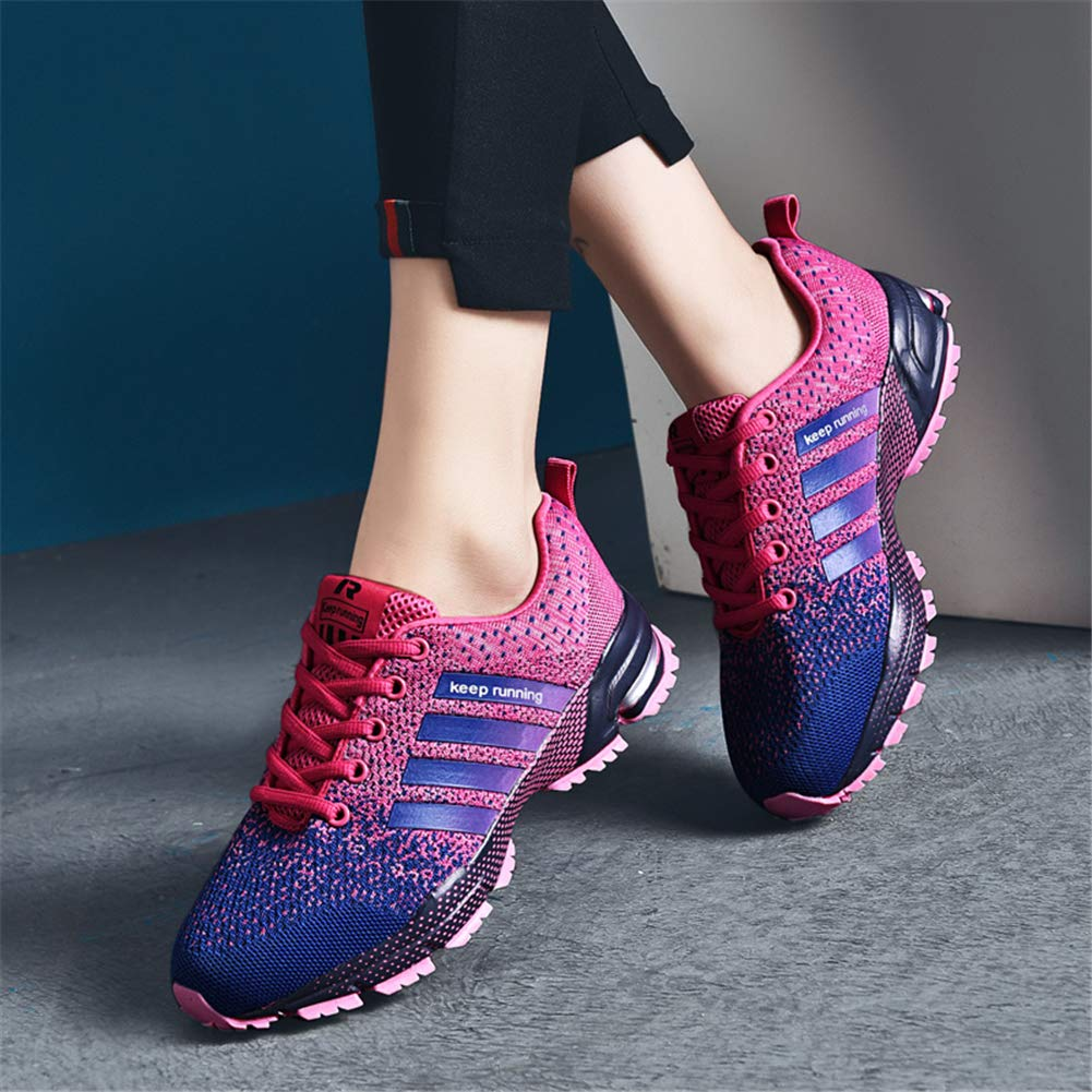 KUBUA Womens Running Shoes Trail Fashion Sneakers Tennis Sports Casual Walking Athletic Fitness Indoor and Outdoor Shoes for Women 5 B / 4 D F Purple by KUBUA (Image #5)