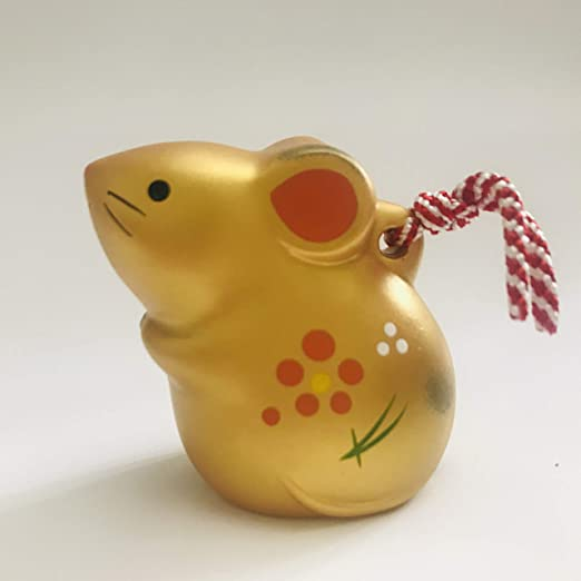 Chinese New Year Ceramic Year Of The Rat Figurine Bell Home Décor Accents Decorative Bells