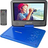 DBPOWER 9.5'' Portable DVD Player, 5 Hour Rechargeable Battery, Swivel Screen, Supports SD Card and USB, With Game Controller+ Car Charger (blue)
