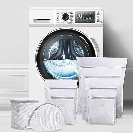 Ipow [8 PCS] Bolsa de lavandería con cremallera, 6 tamaños, Red de ...