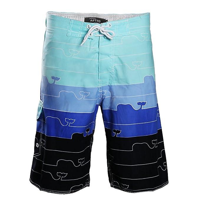 021066c0f24d Huntvp Calzioncini Mare Uomo da Spiaggia Bermuda Comoda Pantaloncino Uomo  Casual Costumi Uomo da Mare: Amazon.it: Abbigliamento