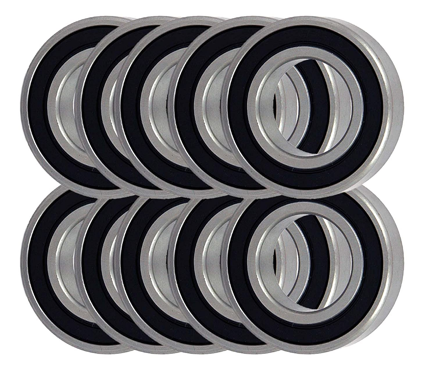 Qty.10 Premium 6205-2RS C3 Snowmobile Bearing Double Sealed 25x52x15mm