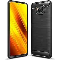 Hianjoo Funda Compatible con Xiaomi Poco X3 NFC, Carcasa Carbon Fibre Texture Suave y Flexible TPU Silicona Cases…