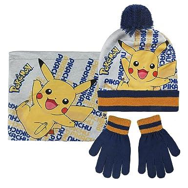 Pokémon 2200-2544 Packs Bonnet, cache cou et gants, Pompon, Hiver ... 80e8ccf6416