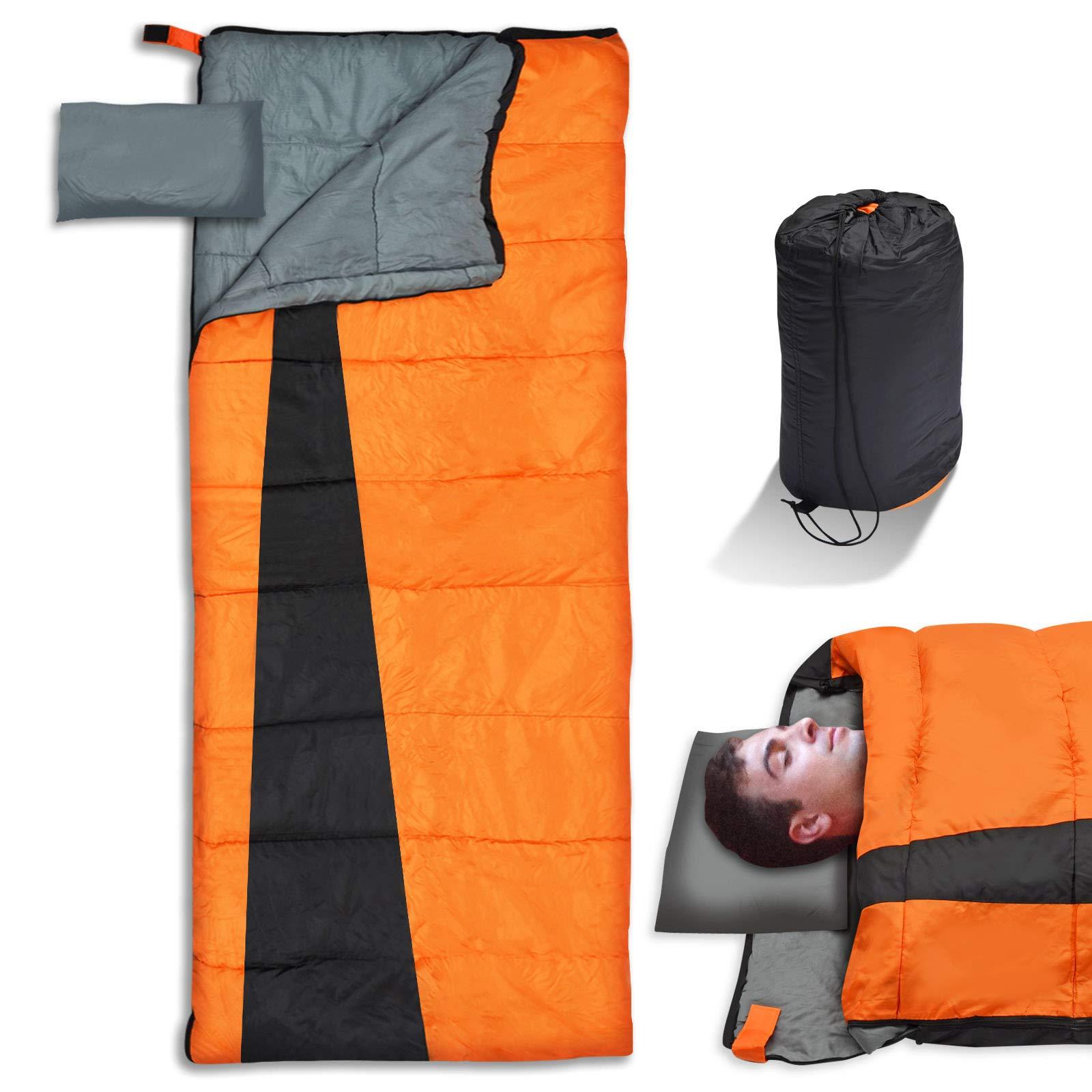 BenefitUSA Outdoor Backpacking Sleeping Bag Lightweight Sleeping Bag with Pillow by BenefitUSA
