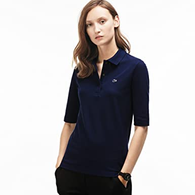 66f304bf7c2af2 Lacoste PF0088 Klassisches Damen Polo, Polohemd, Polosshirt mit 3/4 Arm,  Kurzarm
