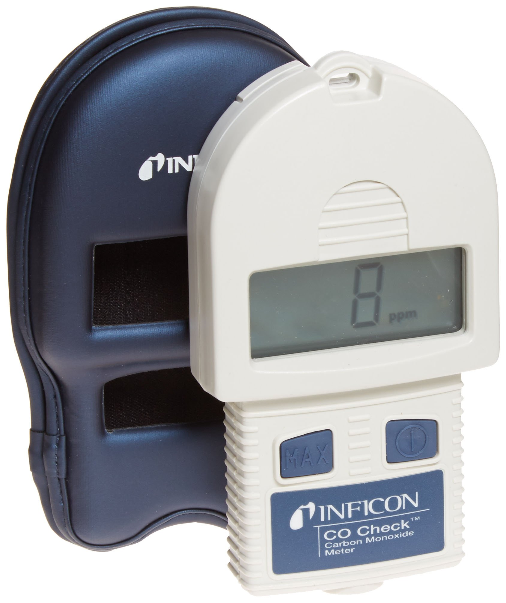 INFICON 715-202-G1 CO Check Carbon Monoxide Meter with Holster Case, 1/999ppm Range, 9V