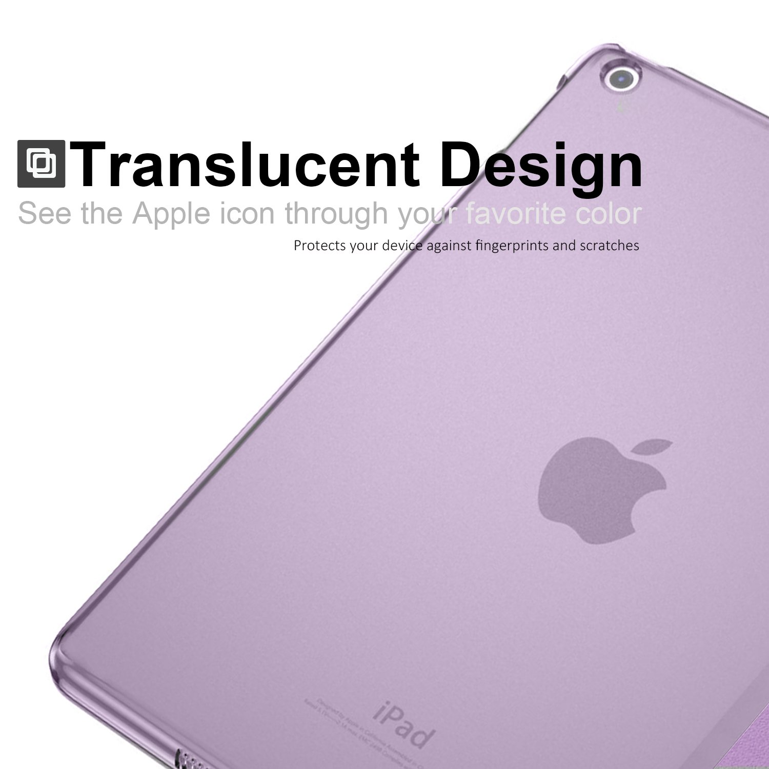 Horizontal and Vertical Display KHOMO iPad 9.7 Inch Transparent Back Case DUAL ORIGAMI Hybrid Series Rose Gold 2017 /& 2018