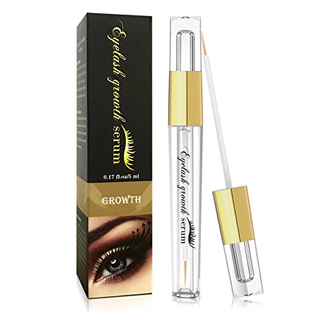 Eyelash Enhancer Hypoallergenic Natural Advanced Eyelash Growth Serum 5ml Eyelash Growth Conditioner Enhances for Natural Lush Eyelash Growth Regrowth