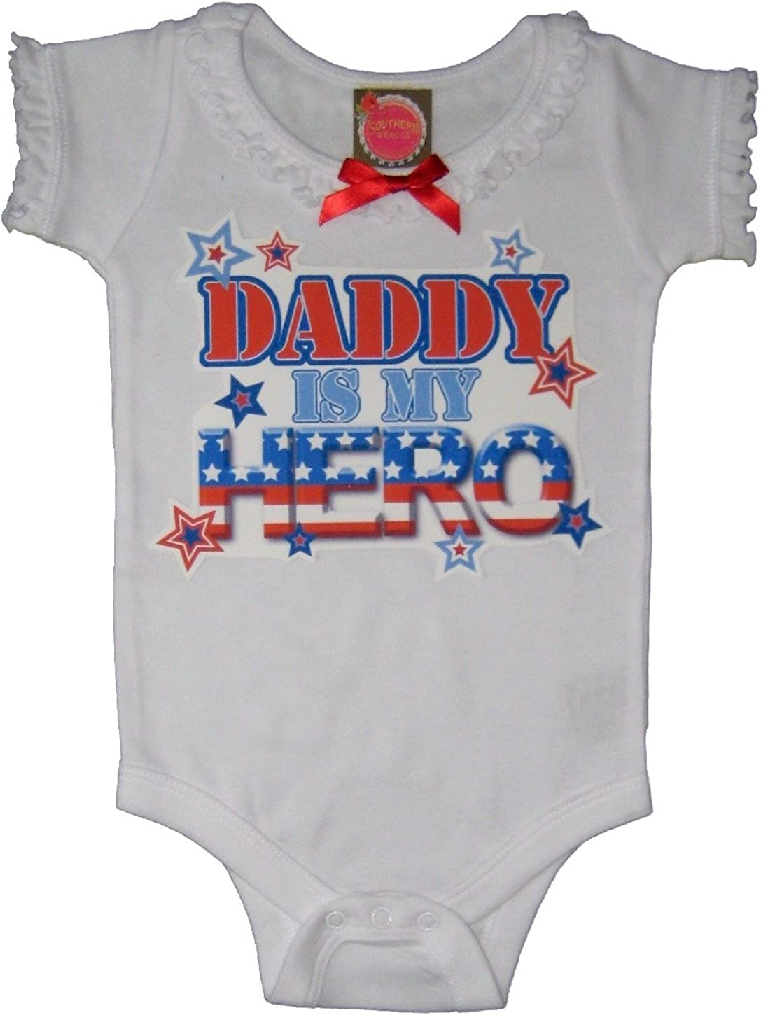 Southern Wrag Company Baby Girls 4th of July Creeper Daddy is My Hero