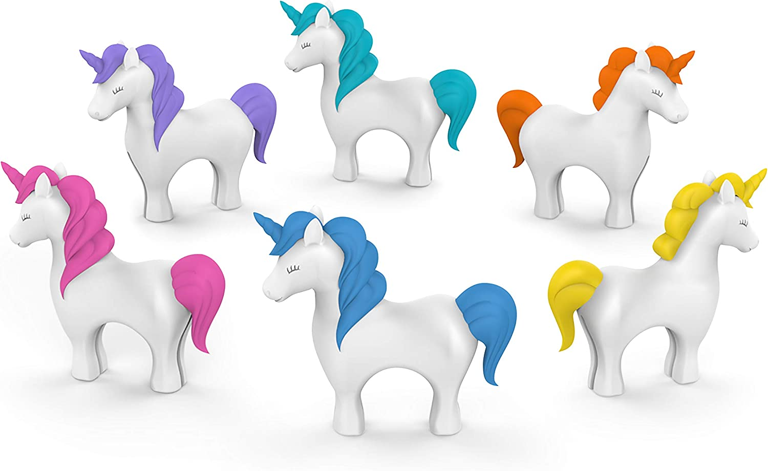 Fred & Friends Tiny Prancers Drink Markers, Standard, Unicorn
