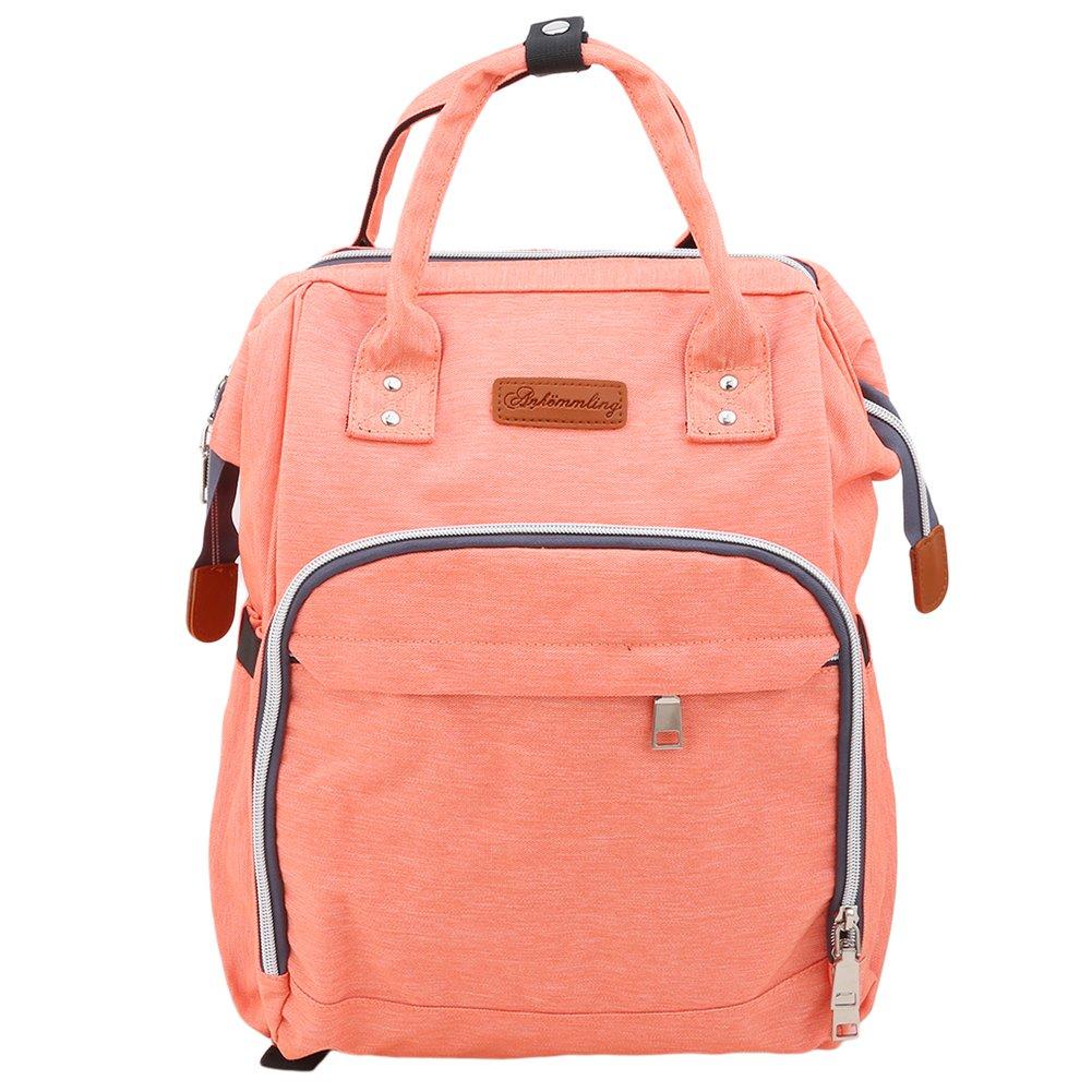 9 Colors Nappy Bag Brand Large Capacity Baby Bag Travel Backpack Designer Nursing Bag for Baby Care orange by dyeve