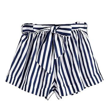 da000a6bff2 Women Shorts Daoroka Ladies Sexy High Elastic Waist Striped Casual Summer  Beach Bohemian New Fashion Hot