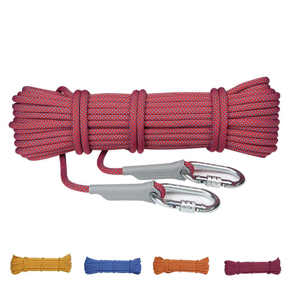 Rouge AMCER Cordes d'Escalade Sport Ficelage Corde Auxiliaire Polyester Nylon Equipement de Prougeection pour Le Randonnée, L'alpinisme, Montagne - Bleu 12mm 40m