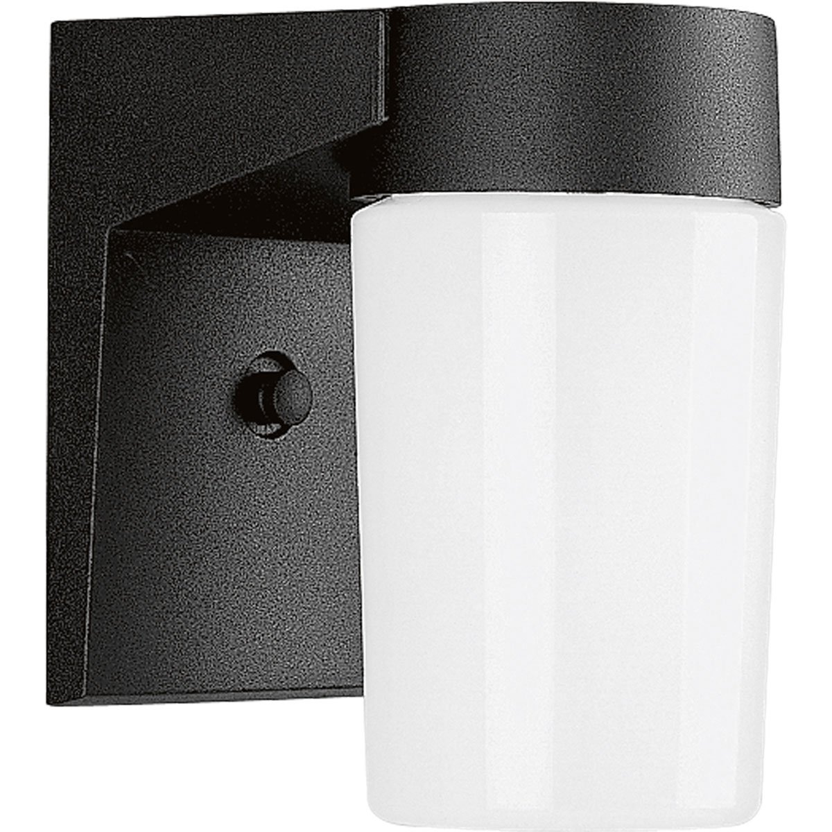 Progress Lighting P5511-31 Wall Fixture with Threaded Opal Glass Shades That Screw Onto Fitter with Vapor-Proof Gaskets and Porcelain Sockets, Black