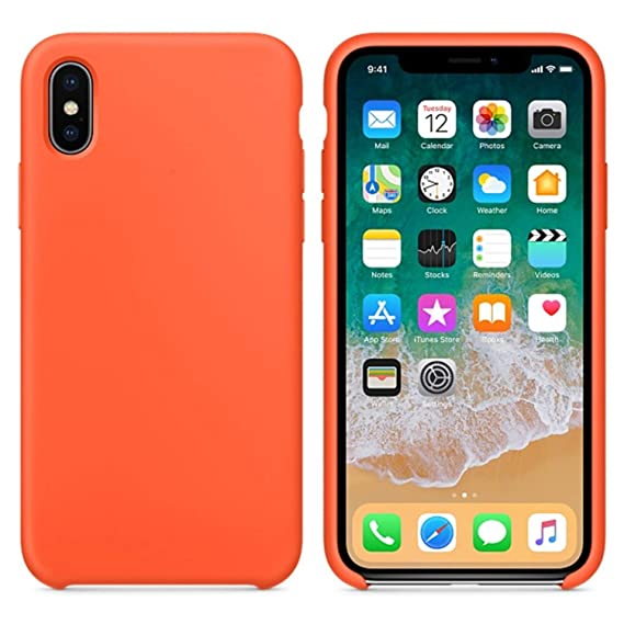 new concept fe4f1 91813 Amazon.com: Silicone Case for iPhone X XS Max XR Case for iPhone 7 8 ...
