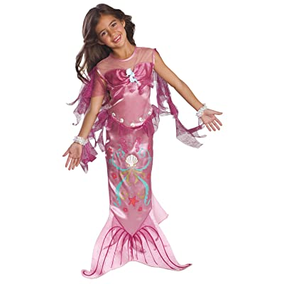 Child's Pink Mermaid Costume, Small: Toys & Games