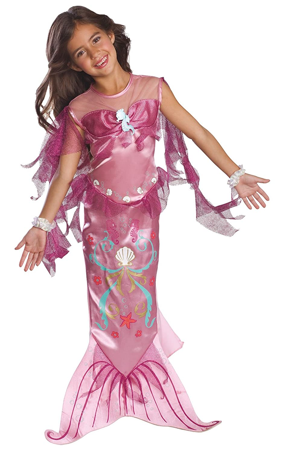 amazoncom childs pink mermaid costume small toys games - Mermaid Halloween Costume For Kids