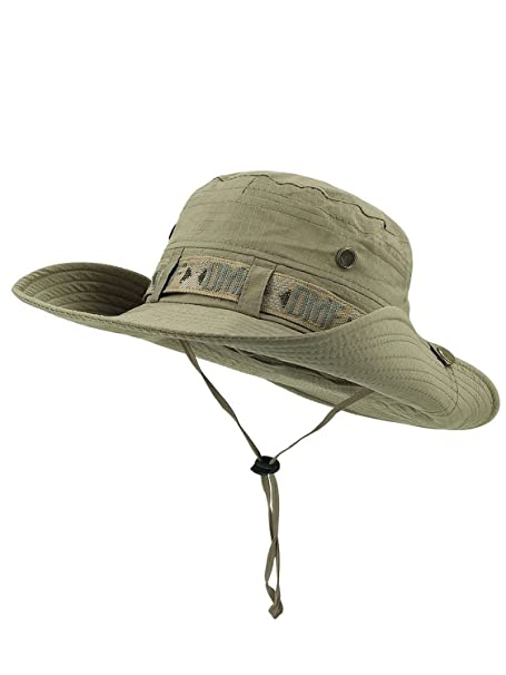 Outdoor Sun Protection Hat Camouflage Bucket Mesh Boonie Hat Fishing a82cf9b9e9d1