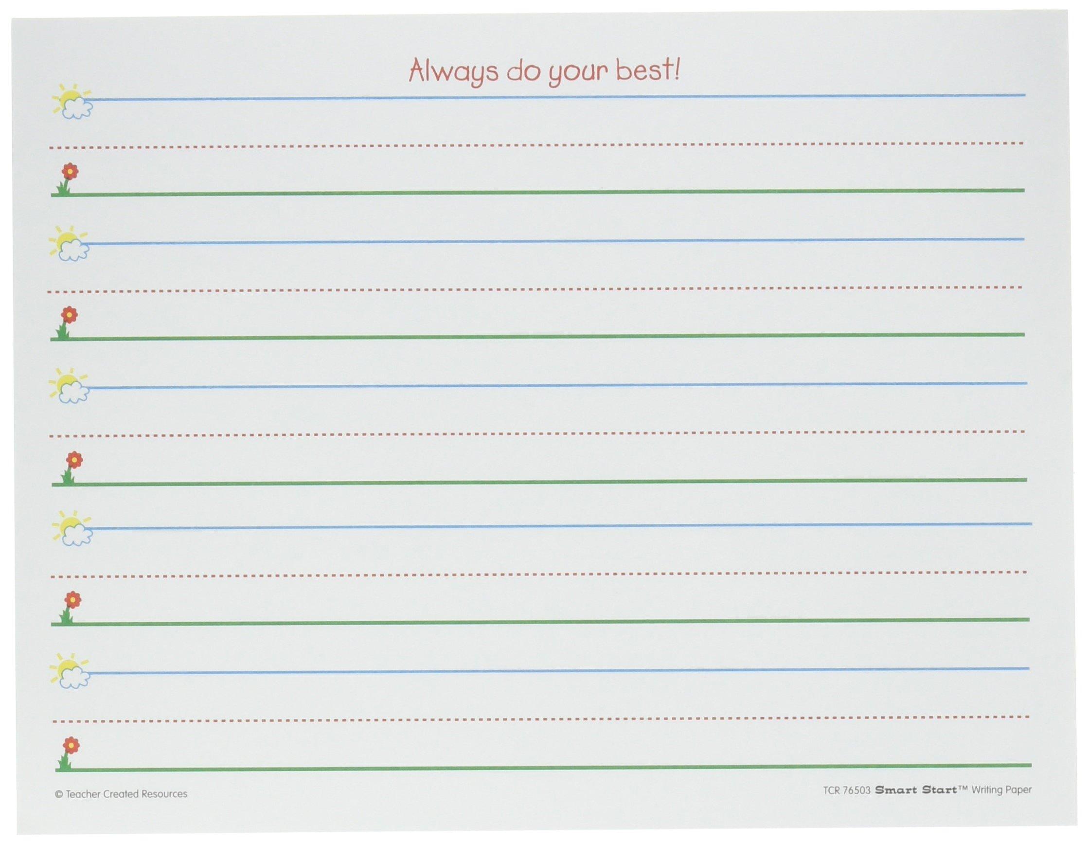 Teacher Created Resources (76503) Smart Start K-1 Writing Paper: 360 sheets