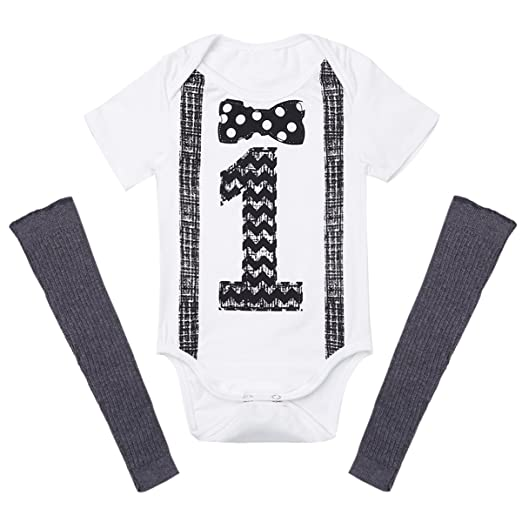 Wan-A-Beez Baby Boys Multi Pack Graphic Short Sleeve Romper