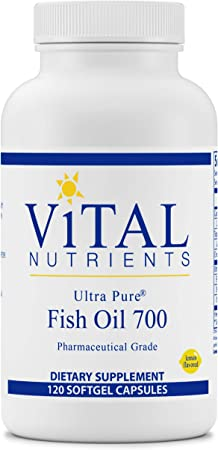 Vital Nutrients - Ultra Pure Fish Oil 700 (Pharmaceutical Grade) - Hi-Potency Wild Caught Deep Sea Fish Oil, Cardiovascular Support with EPA and DHA - 120 Softgels
