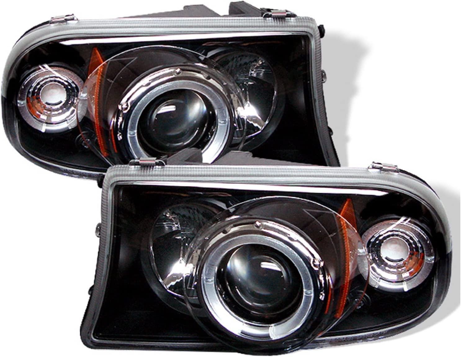 Spyder Auto Dodge Dakota//Durango Black Halogen Projector Headlight