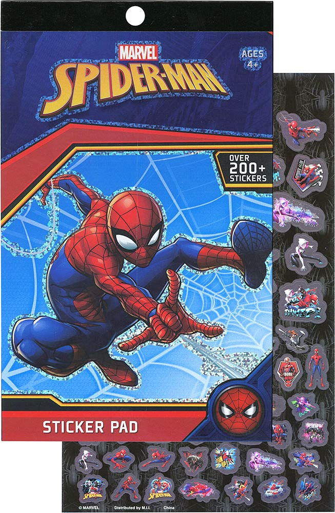 Spider-Man Basketball Set, Turbo Copter, Disc Launcher, and Stickerpad Bundle by Clever Home (Image #5)