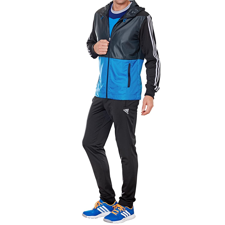Chándal hombre Adidas Young Knit, color - negro/azul, tamaño 8 ...