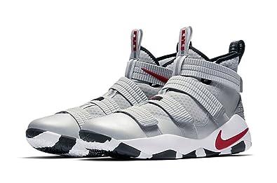 Nike Lebron Soldier XI SFG Men's Basketball Size 8 (897646-007) GREY/RED