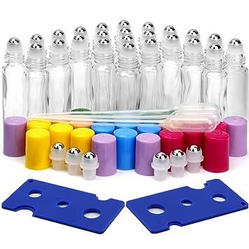 Amazon.com: vidrio botellas de rodillo, paquete de 24 ...
