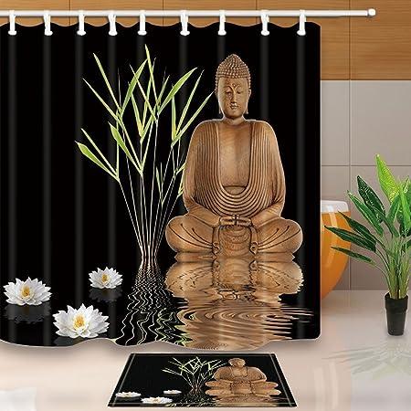 Los árboles de bambú decoración Zen Yoga Buda con Lotus en ...