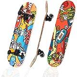 Hiboy Alpha Skateboard, Complete Skateboard 31'' x 8'', ABEC-11 Bearing, 95A High Rebound PU Cushion, Pro Skateboard for Kids